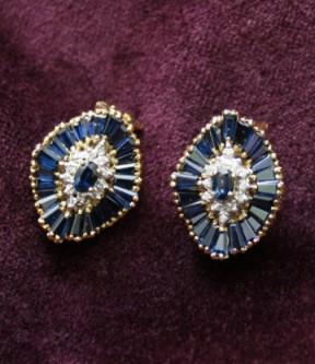 Sapphire Clip Earrings