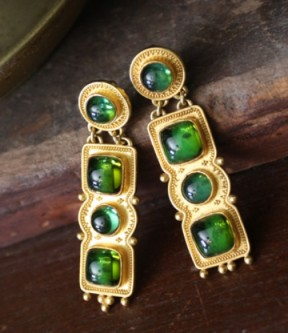 Luna Felix Green Tourmaline Earrings