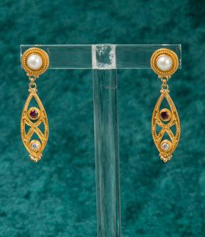 Luna Felix Pearl Post Earrings