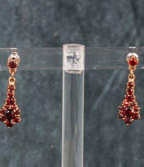 Gold-Filled Garnet Earrings