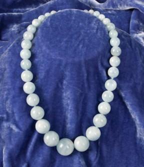 Aquamarine Gradated Beads Necklace