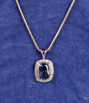 Lavender Sapphire with Diamonds Pendant