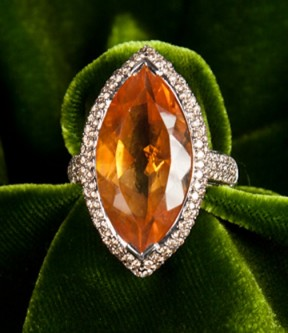 Christophe Danhier Citrine Ring