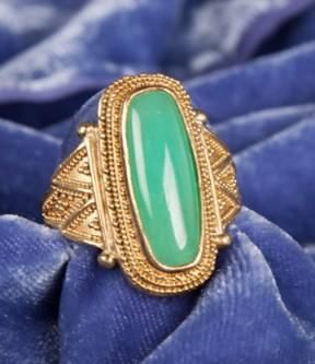 Luna Felix Green Jade Ring