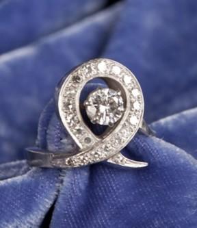 Diamond Loop Ring